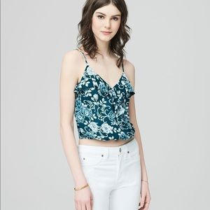 NWT Cape Juby Ruffled Floral Crossover Tank